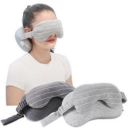 2-in-1 Sleeping Eye Mask Eyeshade Cover Shade U-Shaped Trave