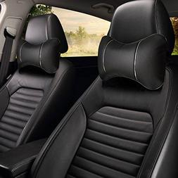 10021 Black - Pack of 2 - Universal Car Seat Head & Neck Res