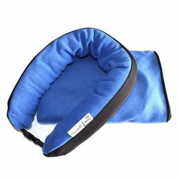2-in-1 Neck Pillow and Blanket for Travel – Compact Travel