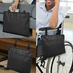 Wheelchair Side Hanging Bag Armrest Pouch Organizer Pocket P