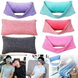 2 In 1Travel Pillow Soft Neck Support Pillow Head Rest Airpl