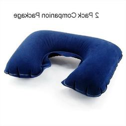 2 Pack Inflatable Travel Neck Cushion Pillow Supports Head &