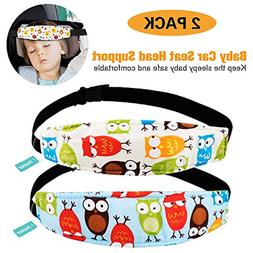 2 Packs Toddler Car Seat Neck Relief and Head Support Pillow