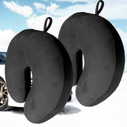 2 x Micro Bead U Shaped Travel Pillow Neck Head Support  Air