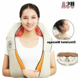 4D Knock Back Neck Massager Shoulder Massage Electric with H
