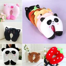 8 Styles Travel Neck Pillow Comfortable Multi-color Cute Ani
