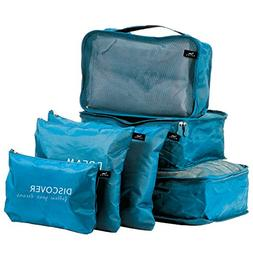 Bucky Organizer, Set of 6 Travel Tote, Blue, One Size