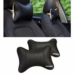 CAMTOA 2PCS Car Neck Pillow  Lovely Breathe Car Auto Head Ne