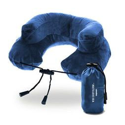 Cabeau Premium Blue Inflatable Air Evolution Travel Neck Pil