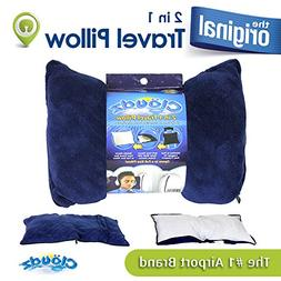 Cloudz 2 in 1 Travel Pillow and Blanket - Navy