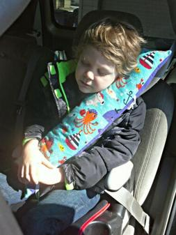 "Comfy Childrens Toddler Kids Unique Travel Car Pillow ""Notew"