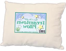 Dreamtown Kids Toddler Pillow with Organic Cotton Shell and