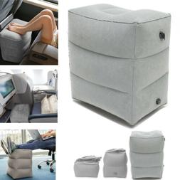Inflatable Travel Footrest Leg Foot Rest Travel Pillow Porta