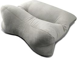 Original Bones 64301 OrthoBone Pillow in Velour, Grey; Resil