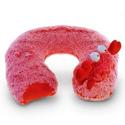 Puzzled Plush Super-Soft Red Crab Travel Neck Pillow