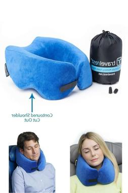 Ultimate Memory Foam Travel Therapeutic Neck Pillow Orthoped