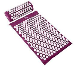 ProSource Acupressure Mat and Pillow Set Back Neck Pain Reli
