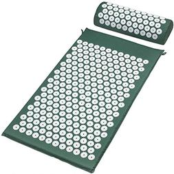 Acupressure Mat and Pillow Set Back Pain Treatment Therapy S