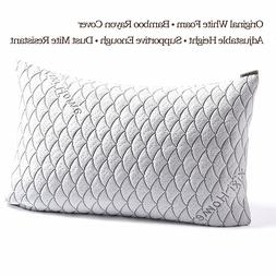 Adjustable Hypoallergenic Shredded Memory Foam Pillow, Xixi