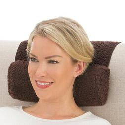 Adjustable Neck Roll Plush Support Pillow For Travel or Home