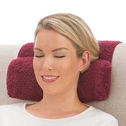 Collections Etc Adjustable Neck Roll Plush Support Pillow fo