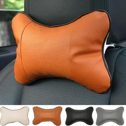 AG_ Neck Pillow Case Universal Headrest Seat Cushion Solid C