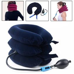 Air Inflatable Pillow Cervical Neck Head Pain Traction Suppo