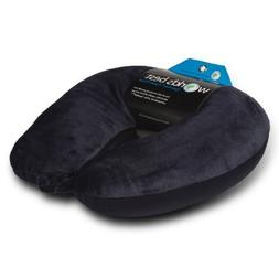 World's Best Air Soft Microbead Neck Pillow, Navy by World's