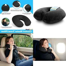 Crafty World Airplane Neck Pillow For Traveling - Memory Foa