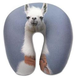 Alpaca Blue U-shaped Neck Support Pillow Full All Over Print