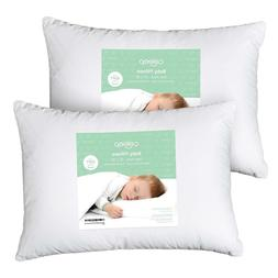 """Baby Toddler Pillow 13"""" x 18 - Siliconized Microfiber Soft C"""