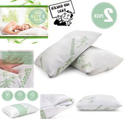 Plixio Pillows for Sleeping - 2 Pack Cooling Shredded Memory