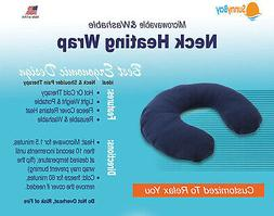 Neck Pillow Blue Large Heating Therapy Pad Muscle Pain Relie