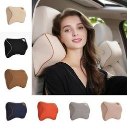 Car Seat Headrest Neck Support Pillow Bone Memory Cushion So