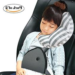 Car Seat Travel Pillow Neck Support Cushion Pad and Seatbelt