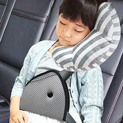 DODYMPS Car Seat Travel Pillow Neck Support Cushion Pad and