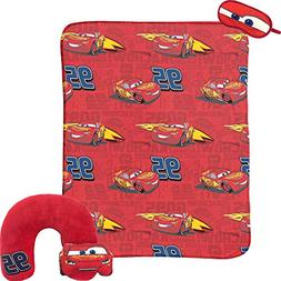 Disney Cars Lightning McQueen 3-Piece Travel Gift Set with 4