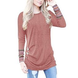 casual long sleeve round neck