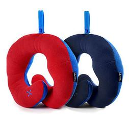 BCOZZY Chin Supporting Travel Neck Pillow - Supports the Hea