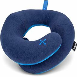 chin supporting travel pillow keeps the head