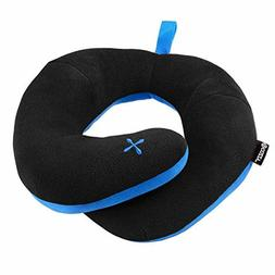 chin supporting travel pillow stops the head