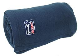 World's Best Cozy Soft Microfleece Travel Blanket, Pga Navy