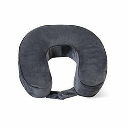 World's Best Cushion/Soft Memory Foam Neck Pillow, Charcoal