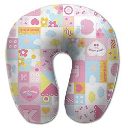 Cute Pattern Comfortable U Type Pillow Neck Pillow Travel Pi