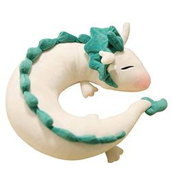Tianmeijia Cute White Dragon Doll Plush Toy Memory U-Shape P