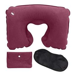 Decent Inflatable Office-Travel Pillow Suit Flocking Neck Pi