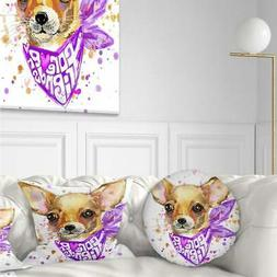 Designart 'Cute Puppy Dog with Neck Shawl' Contemporary Anim
