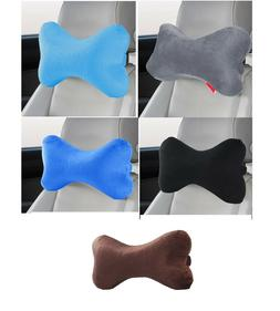 Dog Bone Memory Foam Car Neck Pillow Head Rest Travel Trip P