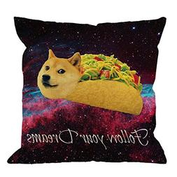 Doge Pillow Covers Decorative By HGOD DESIGNS Doge In Taco C