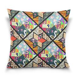 ALAZA Double Sided Colorful Childish Patchwork Pattern Swan
